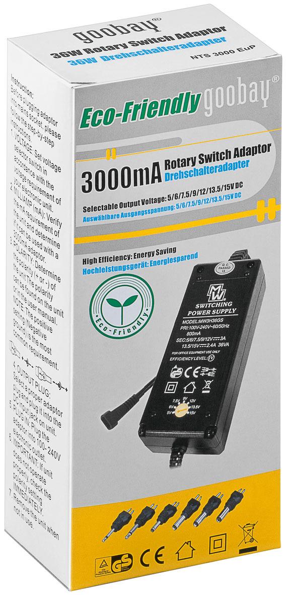 Universal-Alimentatore regolabile 0.3a-3a DC-Adattatore 3.6w-36w 3v-24v