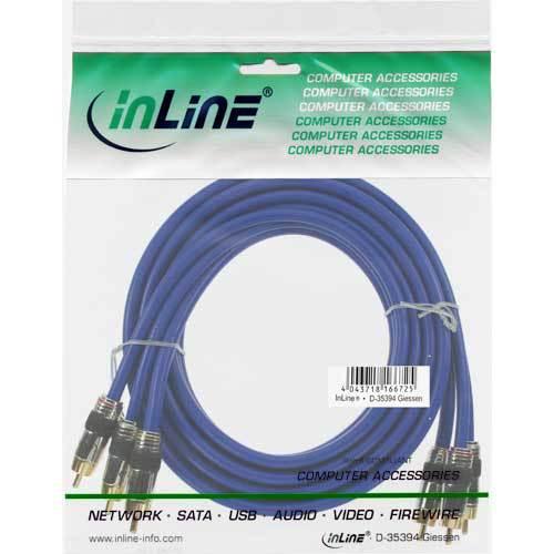 InLine Cinch Kabel Audio Video verschiedene Arten 0.5m-30m Premium Standard