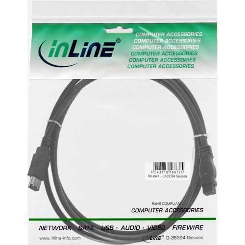 10m 6pol//Pfosten 4pol//4pol vers Sorten und Längen 0.4m InLine FireWire Kabel