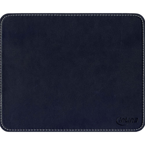 inline maus pad premium kunstleder 220x180x3mm schwarz ebay. Black Bedroom Furniture Sets. Home Design Ideas