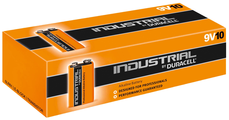 duracell batterie industrial alkaline 9 volt block im 10er. Black Bedroom Furniture Sets. Home Design Ideas