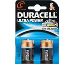 DURACELL Batterie Ultra Power Alkaline Baby C LR14 1,5V PowerCheck 2er-Bli