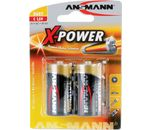 Ansmann Alkaline X-Power Batterie, Baby (C), 2er Pack (5015623)