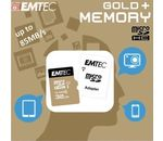SD MicroSD Card 32GB Emtec SDHC CL.10 Gold+ inkl. Adapter