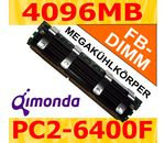 QIMONDA 4096MB DDR2-800 ECC Fully Buffered Kühlkörper
