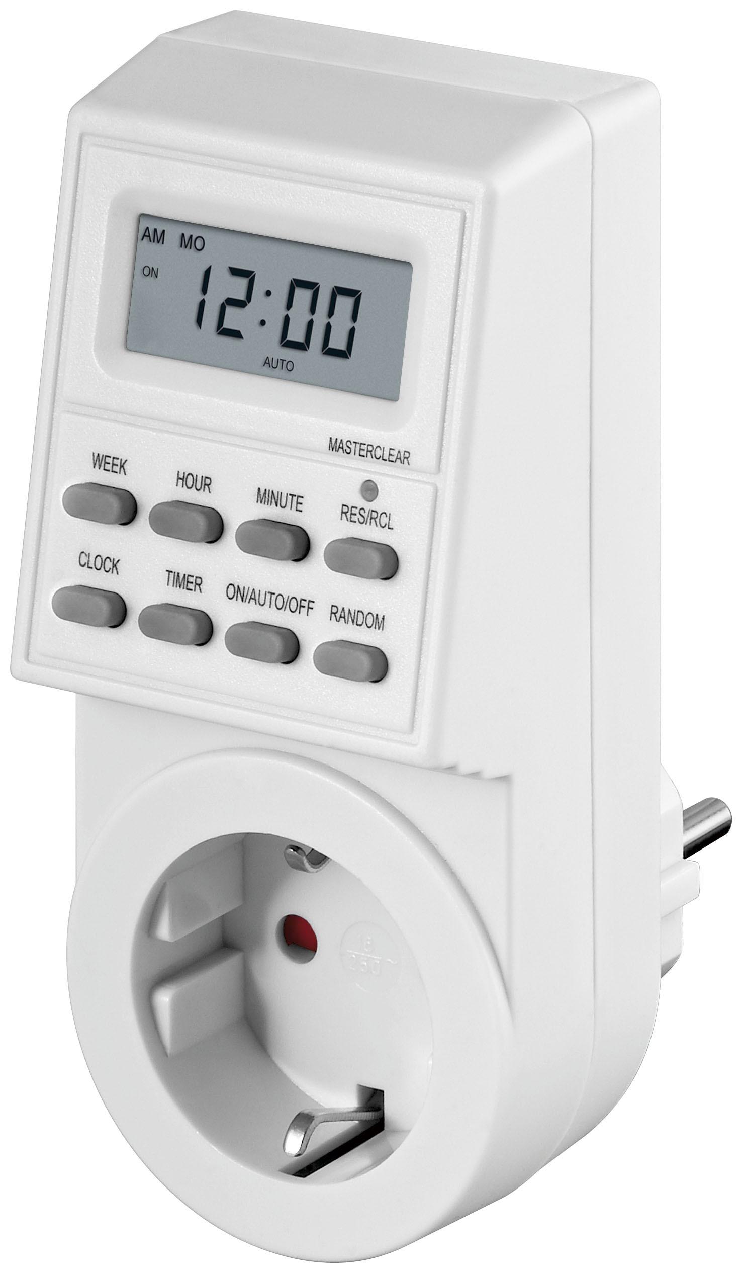 1 Stk präzise und... Weiß Goobay Digitale Zeitschaltuhr IP44 im Karton