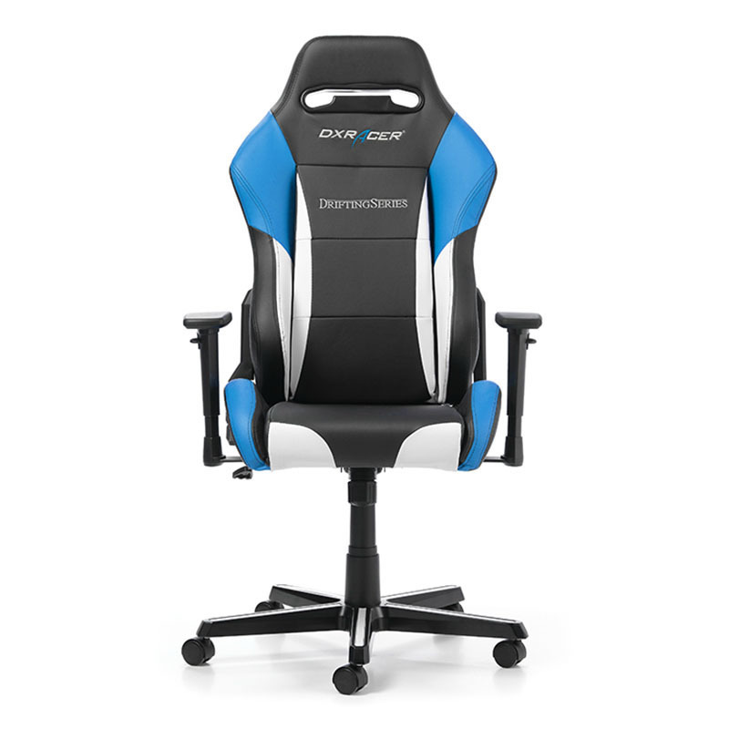 dxracer drifting d61 nwb gaming stuhl schwarz wei blau. Black Bedroom Furniture Sets. Home Design Ideas