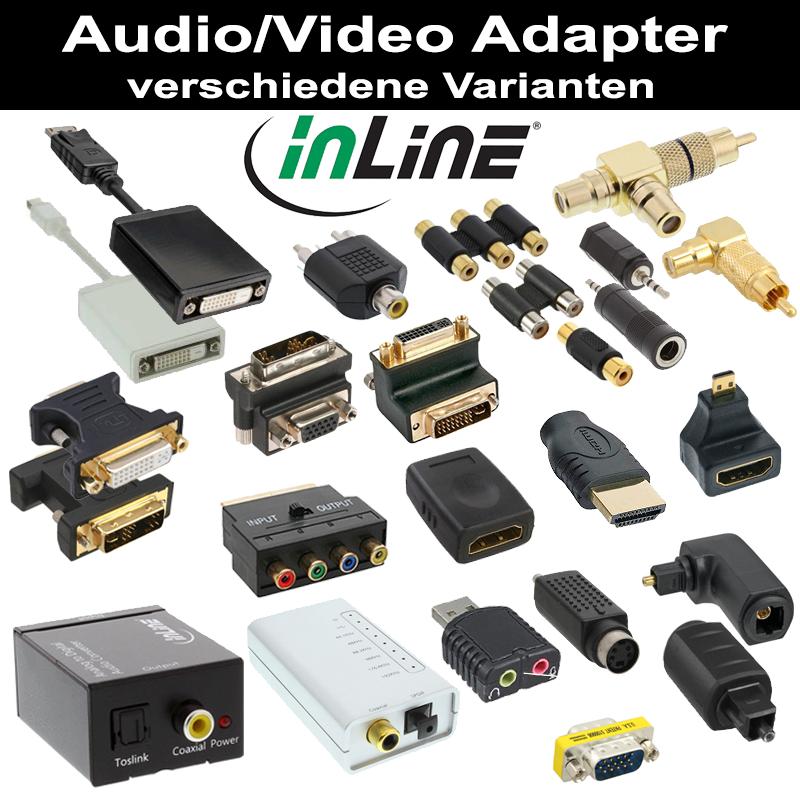 inline audio video adapter versch arten displayport usb. Black Bedroom Furniture Sets. Home Design Ideas