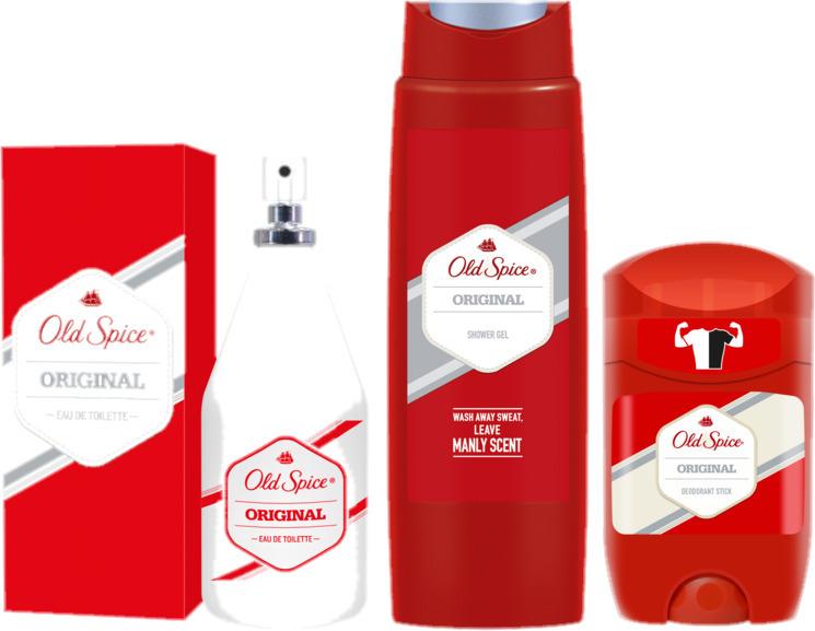 SET Old Spice für Männer Duft Original Eau De Toilette, Duschgel, Deodorant Stic